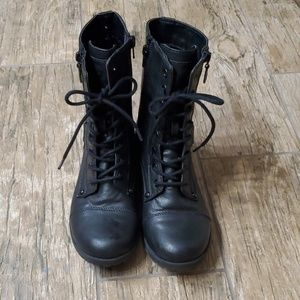 G by Guess Black Combat Boots in great shape.